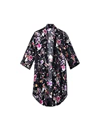 2018 Women's Floral Chiffon Kimono Cardigan Summer Blouse Swimsuit Beach Cover up
