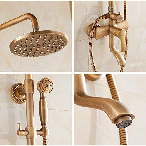 DXX-HR バスルームのシンクは、ヨーロッパのアンティークのシャワーの蛇口銅混合水弁レトロシャワー/ジェイドシャワー設定したホットコールドタップミキサー流域の真鍮シンクミキサータップ非震とう浴室の蛇口をタップ。