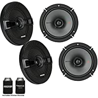 Kicker Speaker Bundle - Two pairs of Kicker 6.5 Inch KS-Series Speakers 44KSC6504