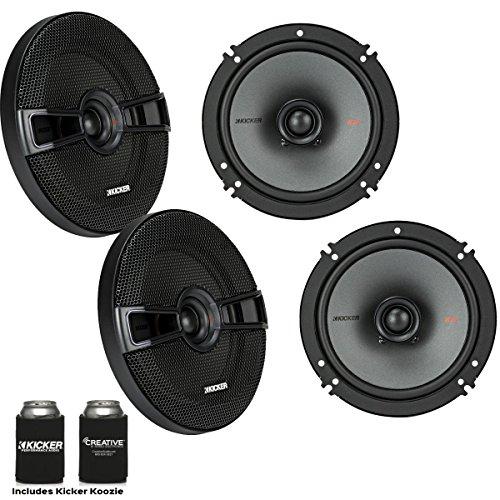 Kicker Speaker Bundle - Two Pairs of Kicker 6.5 Inch KS-Series Speakers 44KSC6504