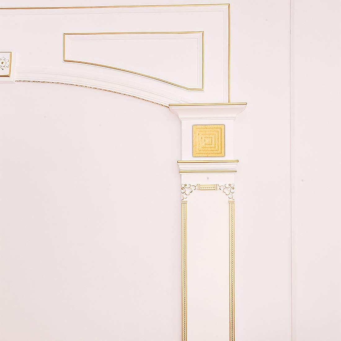 Bverionant 4 Piezas Maderas Talladas Cuadradas para Mueble sin Pintar Armario Puerta Pared Esquina Onlay Aplique Decoraci/ón de Estilo Europeo #1