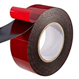 PE Foam Double-Sided Adhesive Tape -Outdoor and Indoor Super Strong Foam Seal Strip for Automotive Mounting,Weatherproof Decorative and Trim,Car Trim Strip,Photo Frame (Wide 2 in Long 33 Ft)