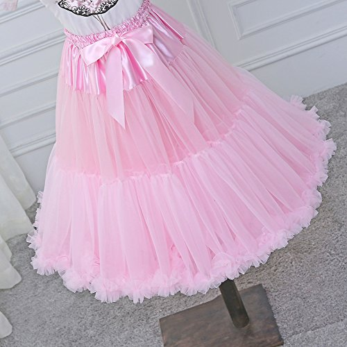 de Rose mousseline tutu Costume de jupe Tulle multicouche jupe soie Tutu de danse en adulte bouffante ballet luxueux mousseline Petticoat femmes en FOLOBE tv7BqI