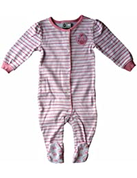 Edmonton Oilers Baby Girls Pink Striped Sleeper