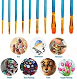 Soucolor Acrylic Paint Brushes Set, 20Pcs Round
