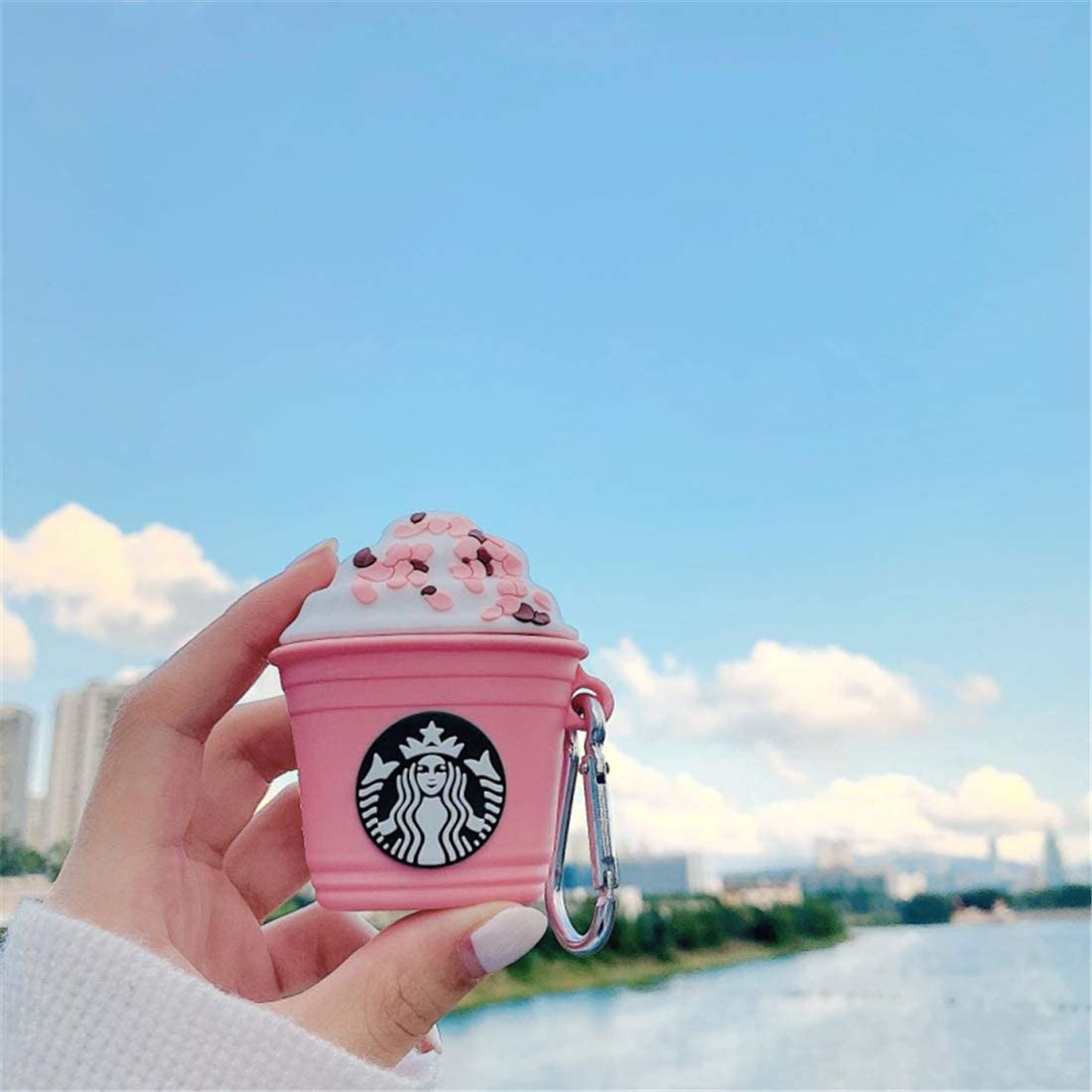 Hiiyorr Pink Coffee Cup Silicone Case for AirPod Cartoon Fun Keychain Soft Skin for AirPods 2//1 Funny Cute Fashion Drink New 3D Character Protective Shockproof Air Pods Cover for Girls Kids Teens