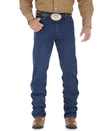 0a1b08ab251 Image Unavailable. Image not available for. Color  Wrangler Cowboy Cut Original  FIT Jean - Prewashed Indigo