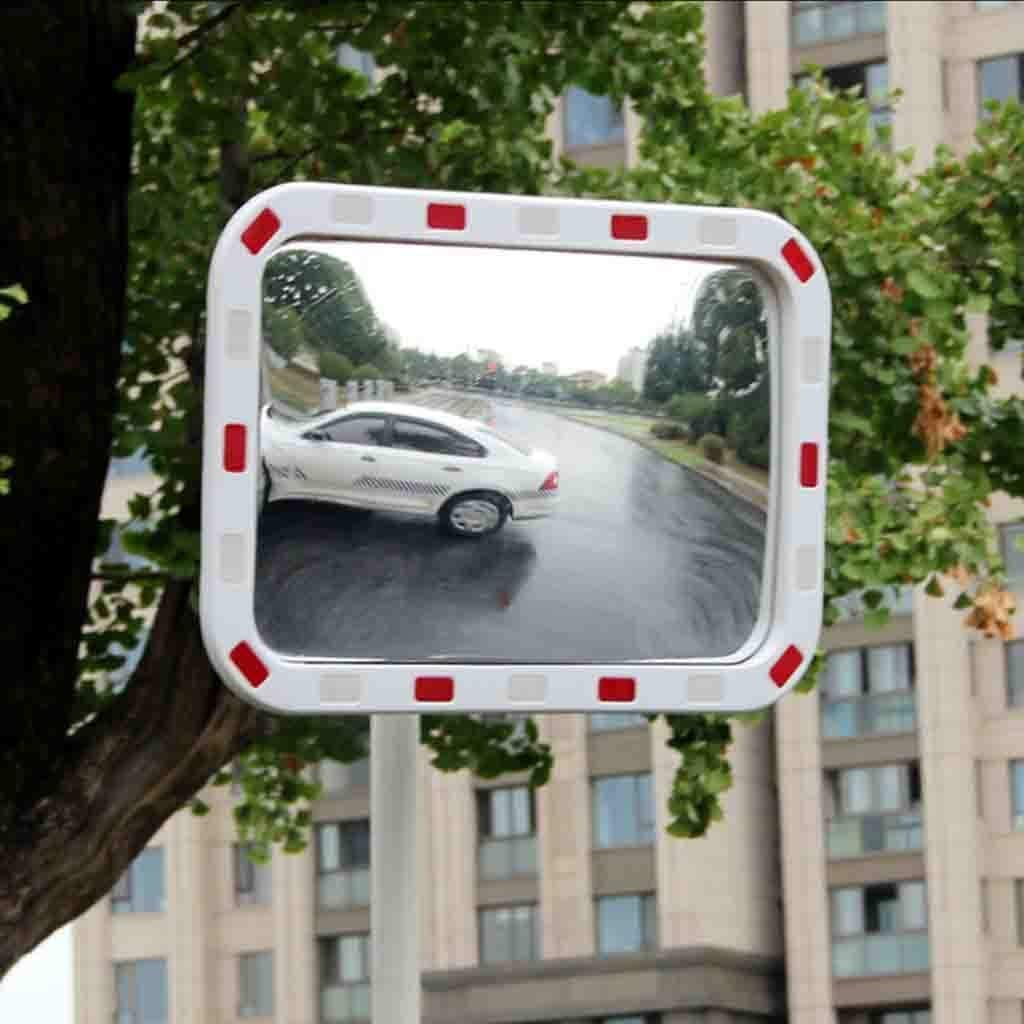 Blind Spot Mirror For Road Safety,Garage Parking and Shop Security 130 Degree Convex Traffic Mirror Wide Angle Unbreakable Home Driveway Alley Car Park Hospital Security Mirror 60CM