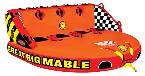 Holiday Inflatables Towable Water Sport Mattress Pull Out Chair Christmas Cube Pull Toy Great Big Mable 4 Rider Tube With Tow Rope - House Deals