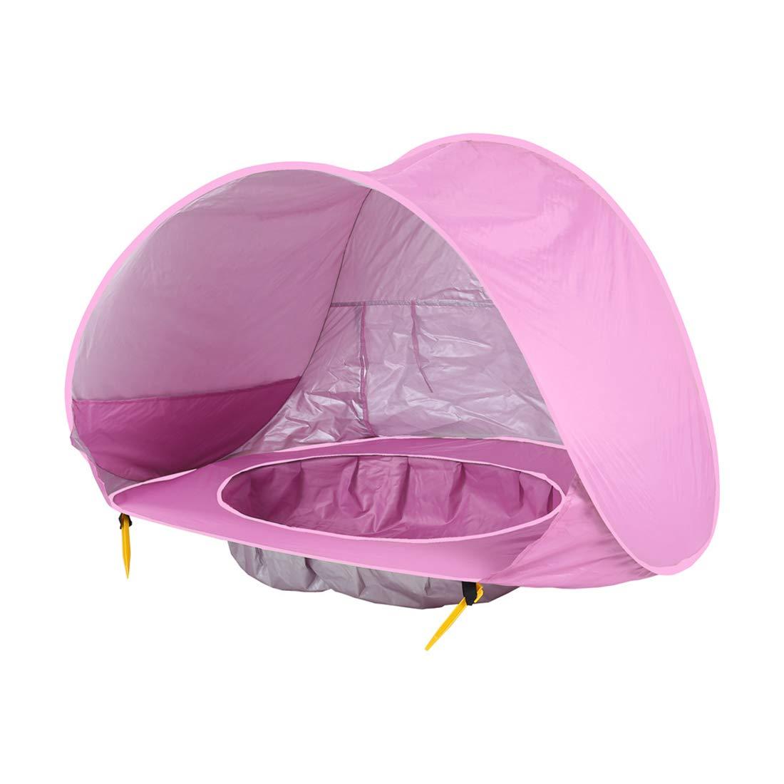 Igspfbjn Juego para niños Carpa Océano Al Aire Libre Protección Solar Piscina Playa Castillo Casa de Juguete Casa de Juguete (Color : Azul)