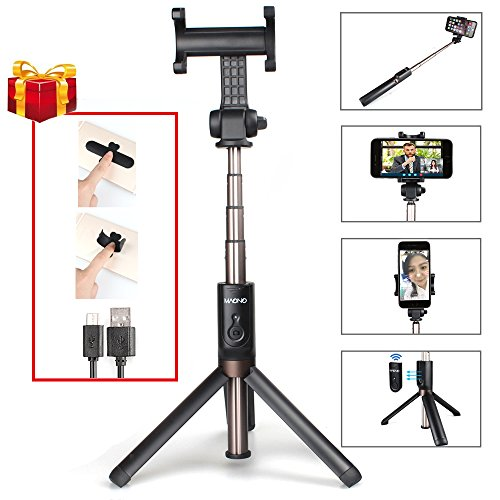 Cheap Selfie Sticks & Tripods Maono AU-Z06 Integrated Selfie Stick Tripod with Bluetooth Remote, Extra Cell Phone..