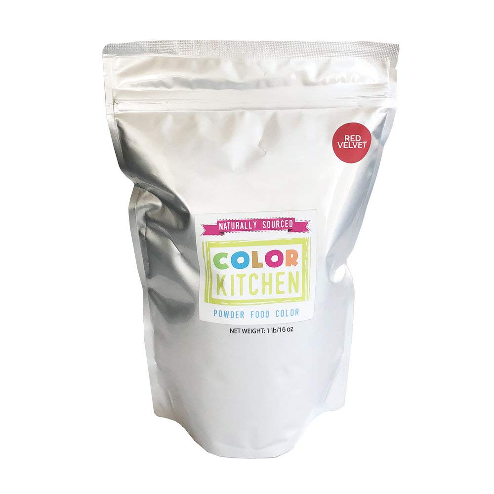 ColorKitchen Red Velvet Food Coloring Powder (1lb Bulk Bag) - All Natural with No Artificial Dyes