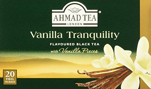 Ahmad Tea Vanilla Tranquility Black Tea, 20-Count Boxes (Pack of 6)