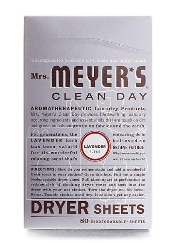 Meyers Dryer Sheets (Mrs Meyers Dryer Sheets, Lavender)
