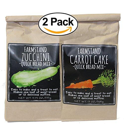 Farmstand Zuchinni & Carrot Quick Bread Mix BUNDLE 2 Pack