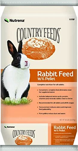 Country Feeds Nutrena 16% Pellet Rabbit Feed 50 Pounds