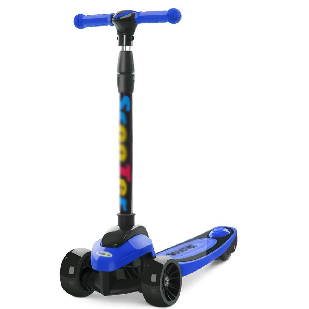 CHENGGUO 4 Scooter ad Altezza Regolabile, Skateboard per Bambini (colore   Blu)