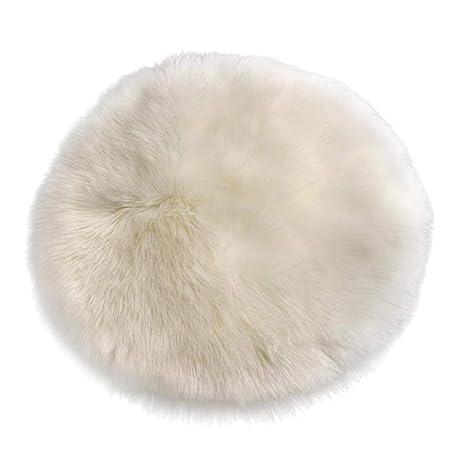 1 Stk Faux Wolle Pelz Teppich Stuhlabdeckung Sitzkissen Schaffell Mat Praktisch