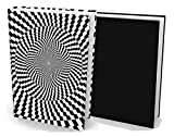 Book Sox Fabric Jumbo Stretchable Book Covers (2 Items, Optical Illusion Print and Black Solid)