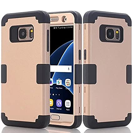 online store dd5f5 06b55 Galaxy S7 Case, PT Premium Full Body Hybrid Armor Rugged Shockproof  Protective Cover Case For Samsung Galaxy S7 - Gold