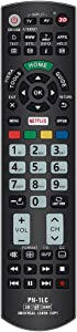 Gvirtue Universal Replacement Remote Control PN-1LC Compatible for Almost All Panasonic-Remote-Control LCD LED 3D Smart 4K Ultra HD TV with Netflix and Viera Link Buttons