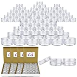 Beauticom 3G/3ML Clear Round Clear Jars with Screw Cap Lids for Jams, Honey, Cooking Oils, Herbs and Spices - BPA Free (Quantity: 1000pcs)