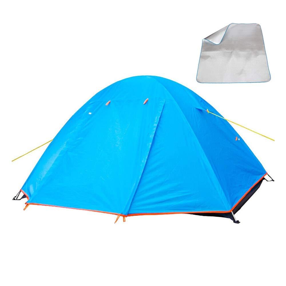男女兼用の旅行すべての季節のために適した本質的な屋外のテントの二重防水携帯用ピクニックテント (色 : 青) B07TMKQ23C 青