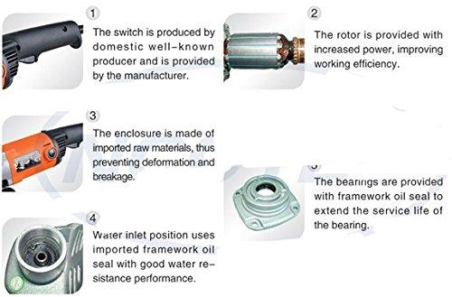 GOWE a combo of 6'' water WET stone polisher+A set of polishing wheels+stick pad | 150mm polisher 1200W