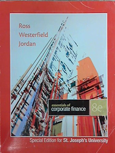 essentials of corporate finance ross westerfield jordan pdf