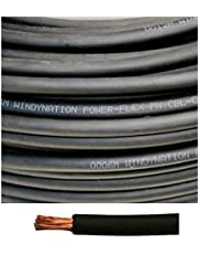 WINDYNATION 4 AWG 4 Gauge Red and Black Welding Lead & Car Battery Copper Cable Wire - Car, RV, Inverter, Solar, Battery