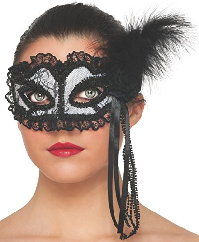 Rubie's Costume Women's White Lace Mask, White, One (Tumblr Halloween Costumes)
