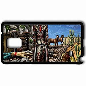 Personalized Samsung Note 4 Cell phone Case/Cover Skin Assassin Casualties Art Weapon Rocks Cart Black