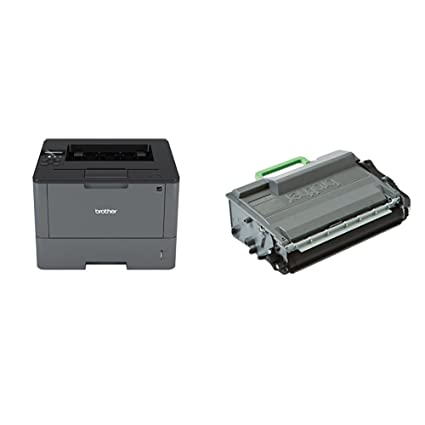 Brother HL-L5100DN - Impresora láser profesional monocromo (250 hojas, 40 ppm, USB 2.0, doble cara automática, Ethernet) + Brother TN3480 - Tóner ...