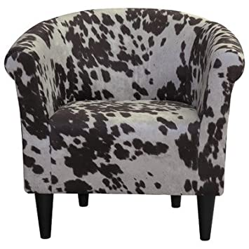 Amazon.com: Classic Liam Barrel Chair With Fun Cow Print Design, Padded  Seat For Extra Comfort In (Cowboy Brown): Kitchen U0026 Dining