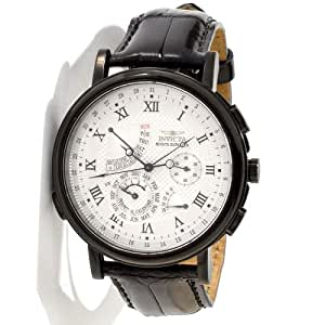 Invicta Men's Black Minute Repeater White Dial Black Bezel Alarm Watch