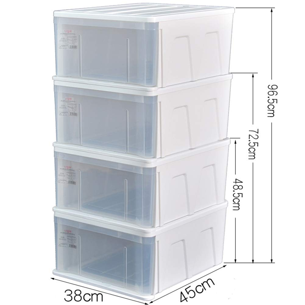 New size Three floors ZHANGQIANG Storage Basket Laundry Basket Crystal Stacking Plastic Storage Box and Lid (color   The New Giant, Size   Three Floors)