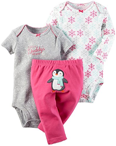 Carter#039s Baby Girls#039 3 Pc Back Art 126g365