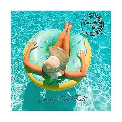 beachtoy flotador hinchable aros Donut azul playa/piscina 110 cm, talla XXL – Lote