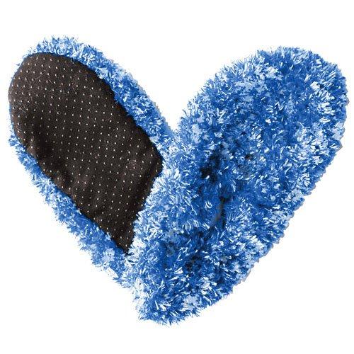 Fuzzy Footies Womens Slip Resistant Slippers (Blue/Teal)