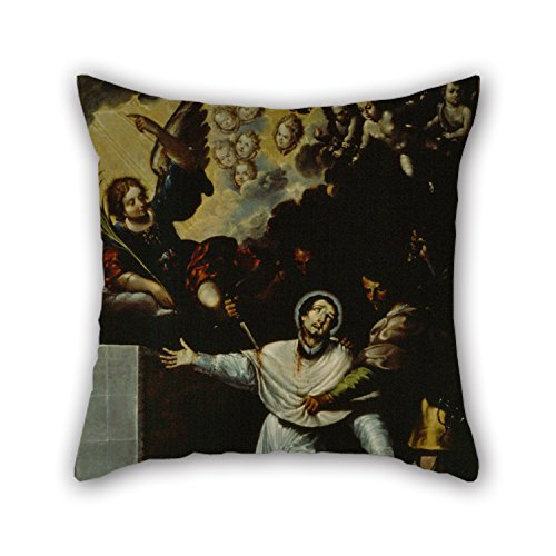 Micro Needlepoint (Bestseason Oil Painting Baltasar De Echave Y Rioja - The Martyrdom Of Saint Peter Arbués Throw Pillow Case ,best For Sofa,car,son,valentine,deck Chair,drawing Room 20 X 20 Inches / 50 By 50 Cm(both)