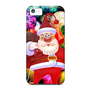 High Quality Shock Absorbing Case For Iphone 5c-santa Claus