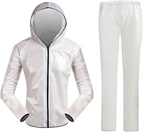 QIANDING Yuyi Hombres Impermeable Transparente Impermeable ...
