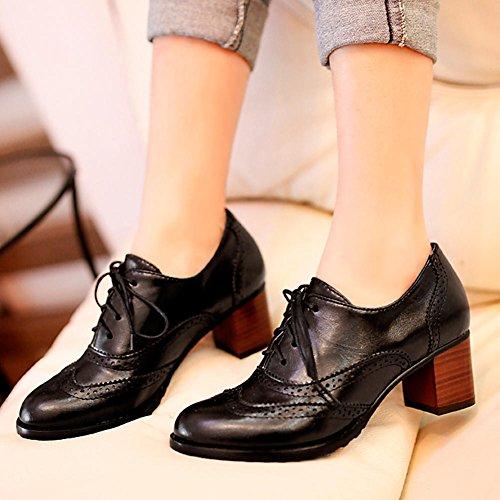 de Vestir para 2 Mujer DoraTasia Negros Zapatos 14qwFxa