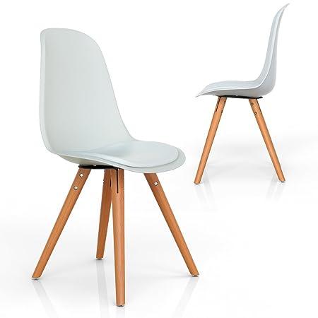 AuBergewohnlich Vimes Design Stuhl Esszimmerstuhl Wohnzimmerstuhl Retro Möbel Grau Oder  Weiß (Weiß): Amazon.de: Küche U0026 Haushalt