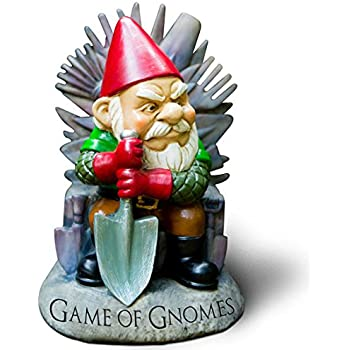 BigMouth Inc U201cGame Of Gnomesu201d Garden Gnome Statue, Hand Painted Ceramic  Game Of Thrones Sculpture For Garden Or Desk, 9.5u201dTall