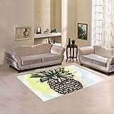 Happy More Custom Pineapple Fruit Area Rug Indoor/Outdoor Decorative Floor Rug For Sale