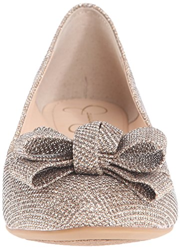 Jessica Simpson Womens Mugara Balletto Oro Piatto