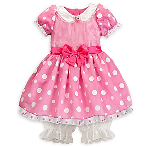 Disney Store Minnie Mouse Dress Costume Halloween Fancy Pink Size 3-6 Months New ()