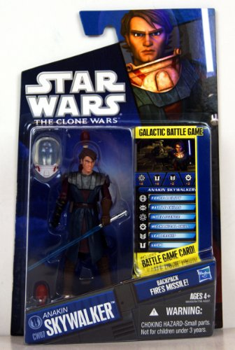Star Wars Clone Wars 2010 figure Anakin Skywalker #07 in Space Suit.