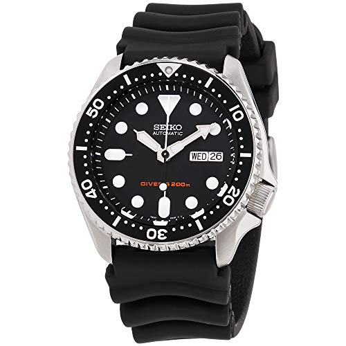 Seiko Divers Black Dial Rubber Strap Men's Watch -